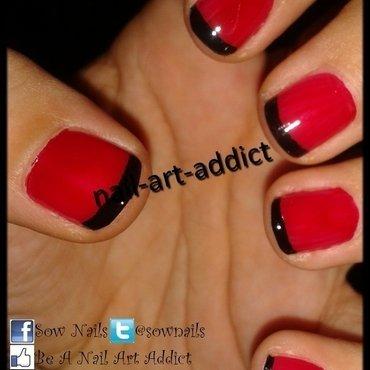 French noire sur vernis rouge thumb370f