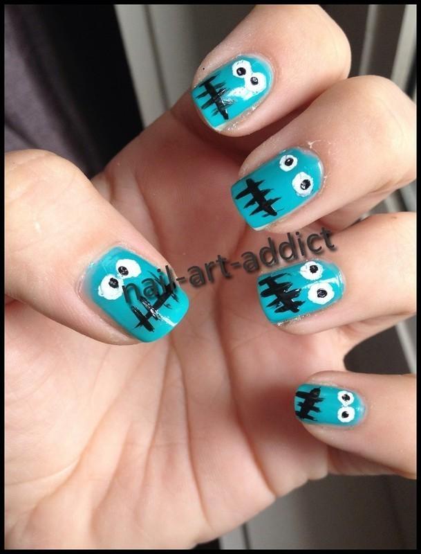 Nail Art : Monstres nail art by SowNails