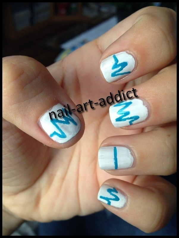 Nail Art : Médical nail art by SowNails