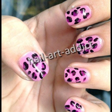 Nail Art : Leopard nail art by SowNails