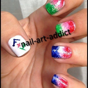 Nail Art : Fêtes Nationales nail art by SowNails