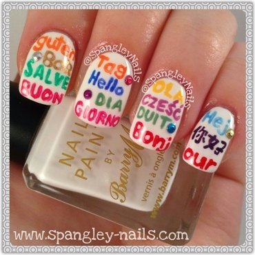 Hello World! nail art by Nicole Louise