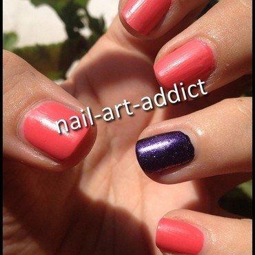 Nail art   bicolore   mat thumb370f