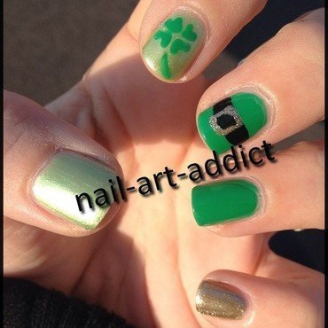 Nail Art : Saint Patrick nail art by SowNails
