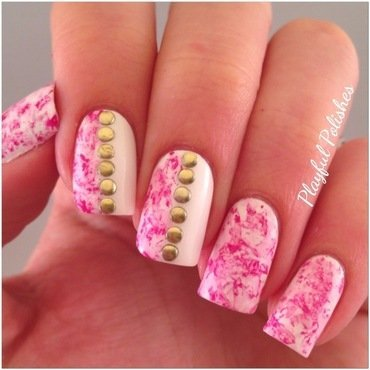 Seran Wrap Nail Art nail art by Playful Polishes