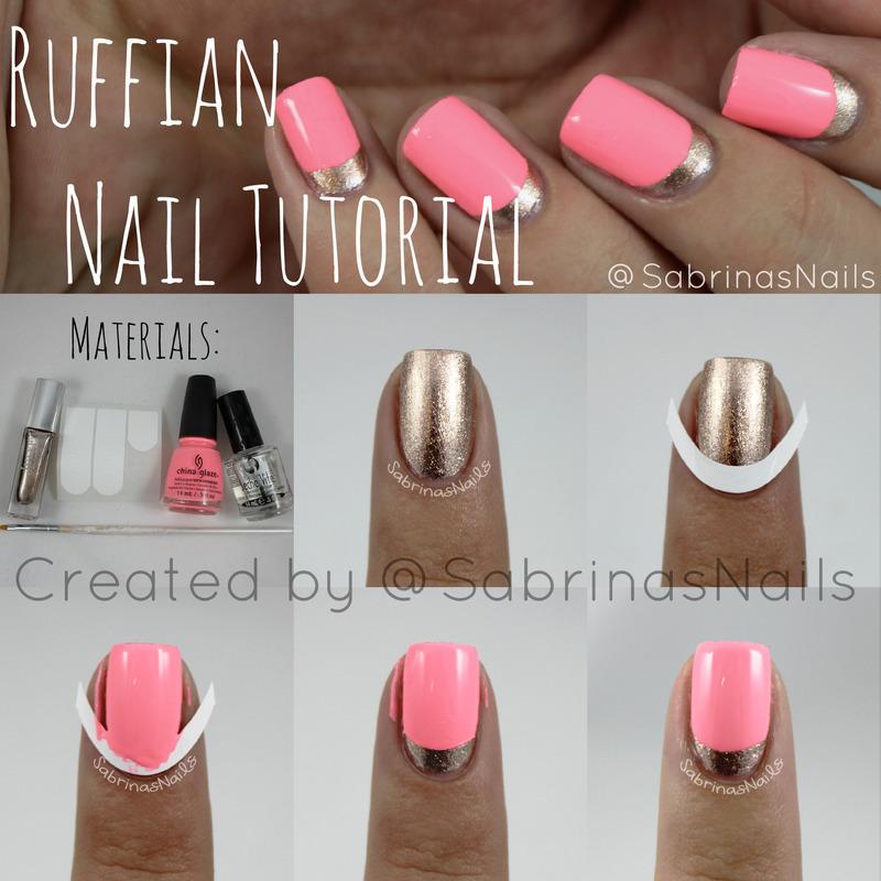 Ruffian Nail Tutorial nail art by Sabrina