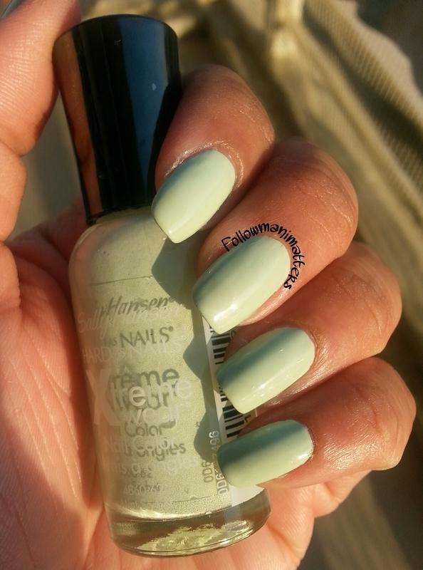 Sally Hansen Xtreme Wear Mint Sorbet Swatch by Manisha Manimatters