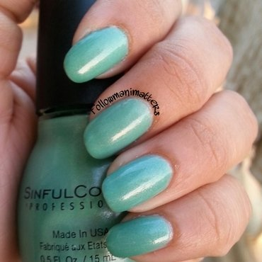 SinfulColors Mint Apple Swatch by Manisha Manimatters