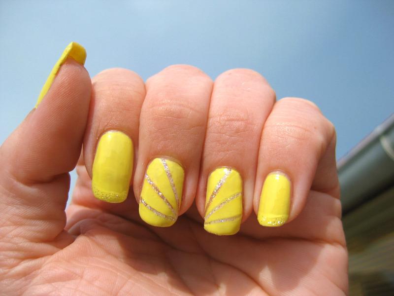 Striping tape nail art nail art by Vicky