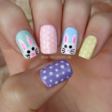 Easter nails nail art by Sanela