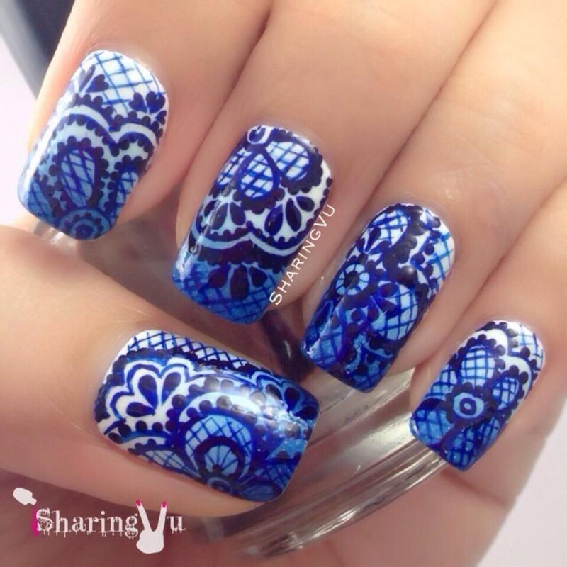 💙💙the blueeeeee💙💙 nail art by SharingVu