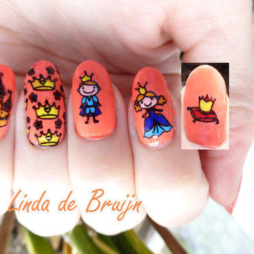 Kingsday nail art by Linda de Bruijn