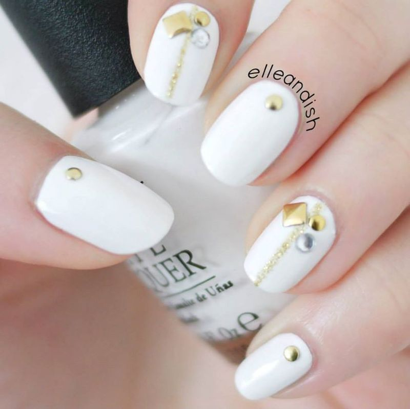 Easy Prom Nails (2 out of 3) nail art by elleandish