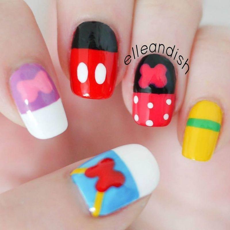 Disney Friends Nails nail art by elleandish