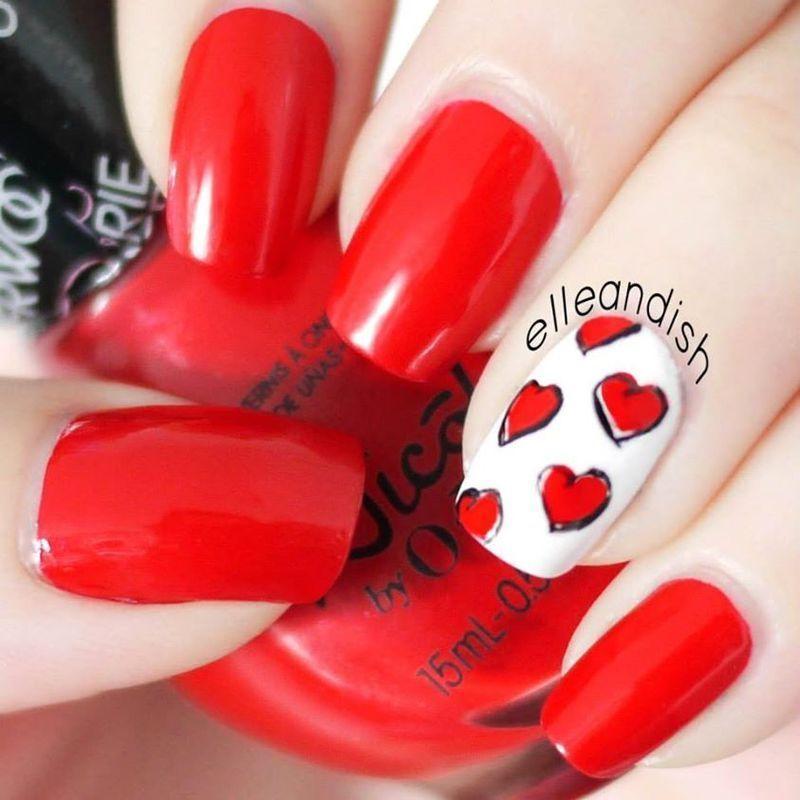 Valentine's Day (Alber Elbaz & Lanvin) nail art by elleandish
