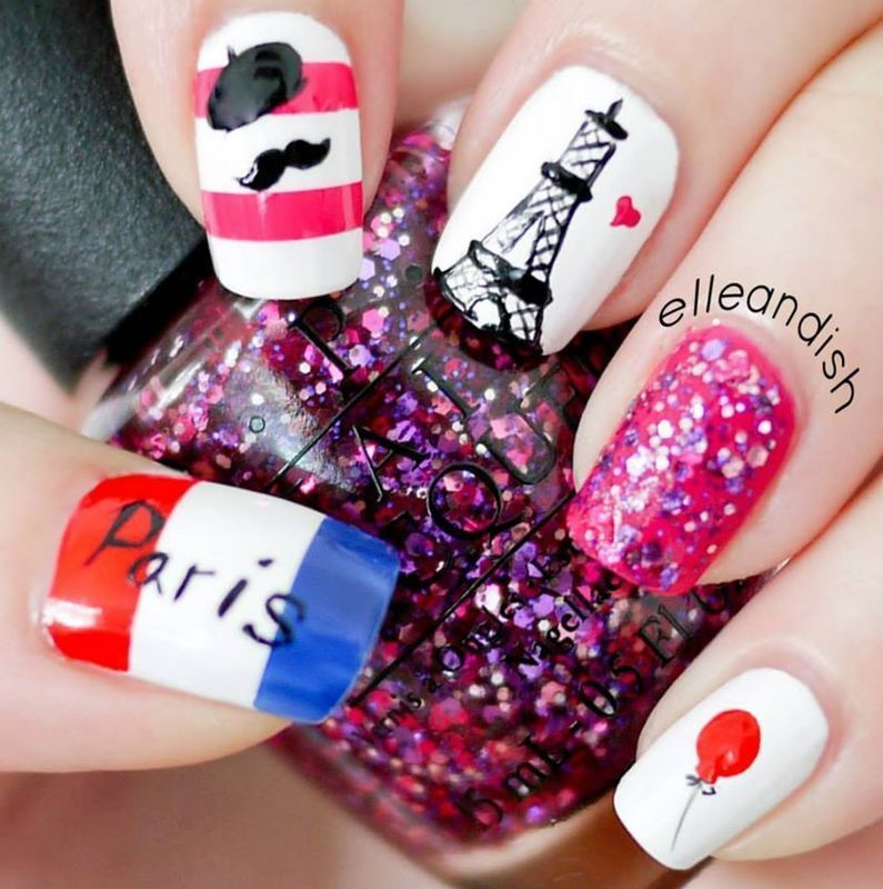 Paris Nails nail art by elleandish
