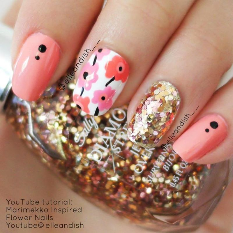 Marimekko Floral Nails nail art by elleandish