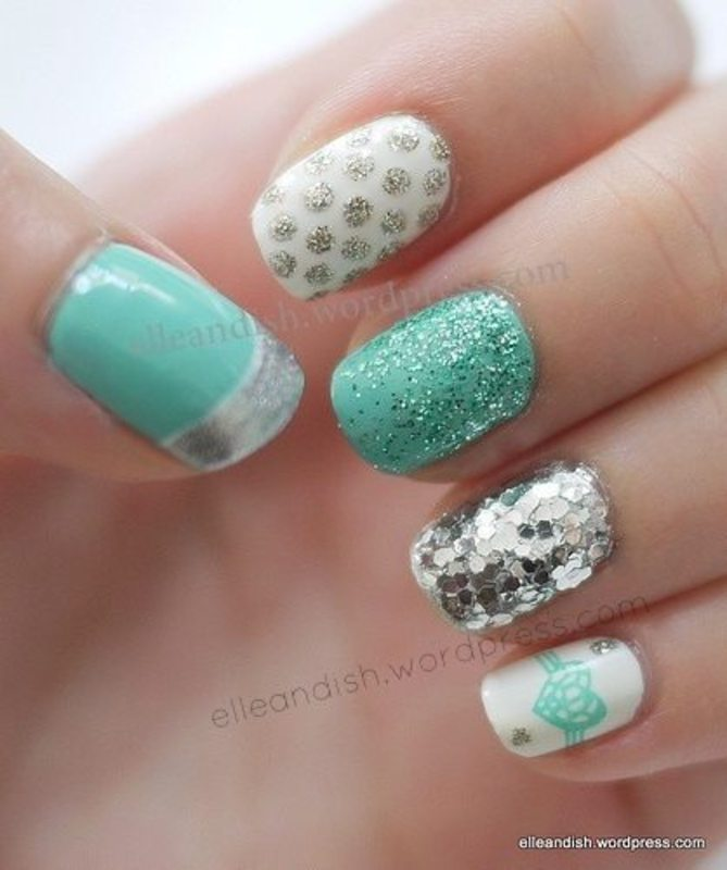 Tiffany Nails nail art by elleandish