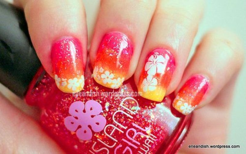 Hawaii Nails nail art by elleandish - Hawaii Nails Nail Art By Elleandish - Nailpolis: Museum Of Nail Art
