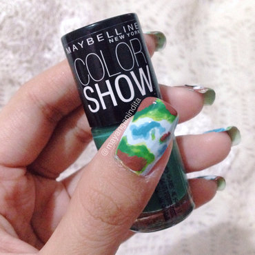 See The Earth Through The Nails nail art by Mayang Anindita