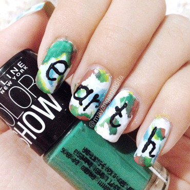 EARTH without ART is just an 'EH' nail art by Mayang Anindita