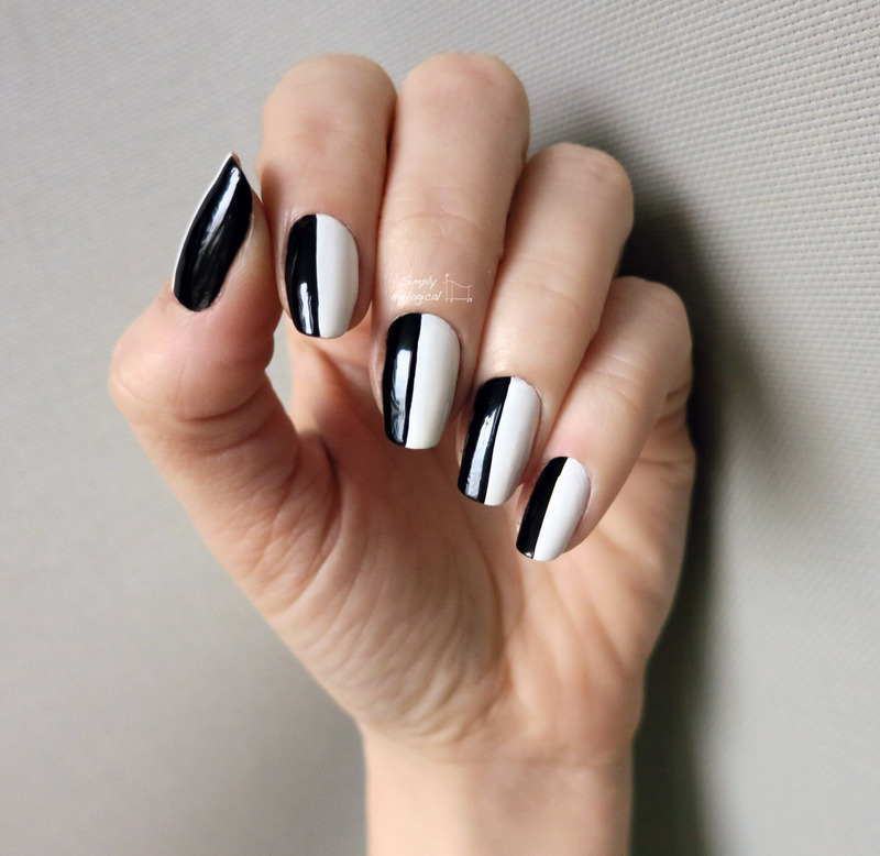 Split Personality Black And White Nail Art By Simplynailogical