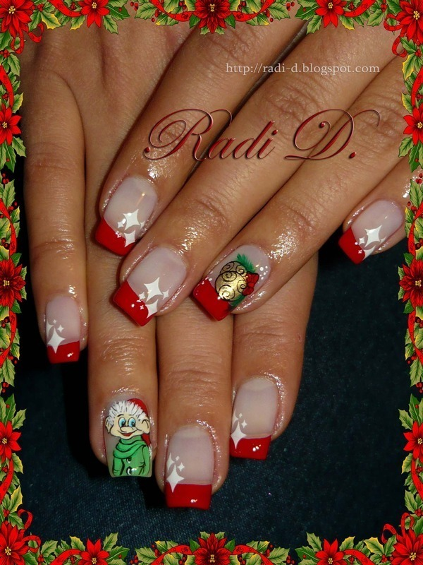Christmas Elf nail art by Radi Dimitrova - Nailpolis: Museum of Nail Art