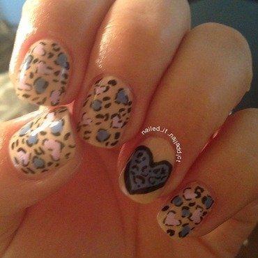 Animal print nail art by Sheree Dean