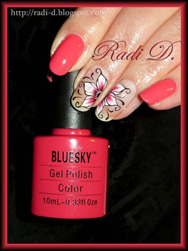 Bluesky Gel Polish 505 Swatch By Radi Dimitrova Nailpolis Museum Of Nail Art