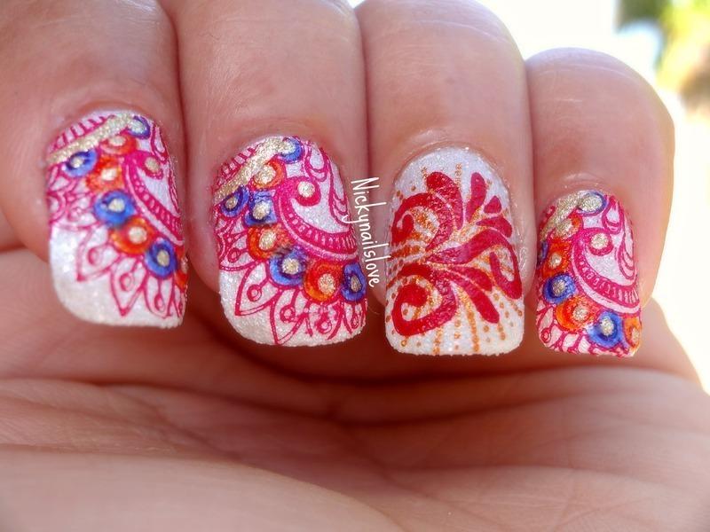 Indian art nail art by nicky nailpolis museum of nail art indian art nail art by nicky prinsesfo Choice Image