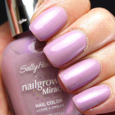 Sally Hansen Nailgrowth Miracle Loyal Lavender Swatch by Emiline Harris