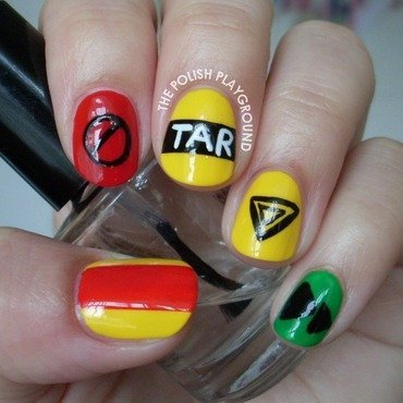 The amazing race inspired nail art thumb370f