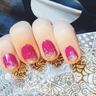 Simple Sparkle Ombré  nail art by Kayla