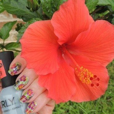 The blooming Earth nail art by NailsIT