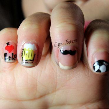 papá te amo! nail art by CynSweet