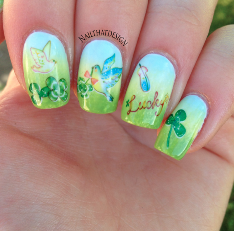 Spring Decals nail art by NailThatDesign