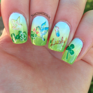 Spring Decals nail art by NailThatDesign
