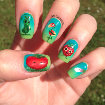 Cloudy with a Chance of Meatballs 2 nail art by NailThatDesign