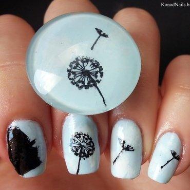 Dandelion nail art nail art by KonadAddict