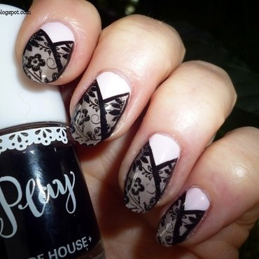 Smoky nail art by T. Andi