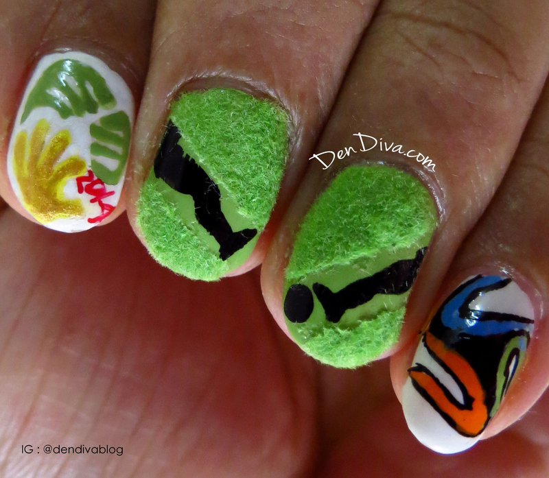 FIFA Nails nail art by Madhu DenDiva