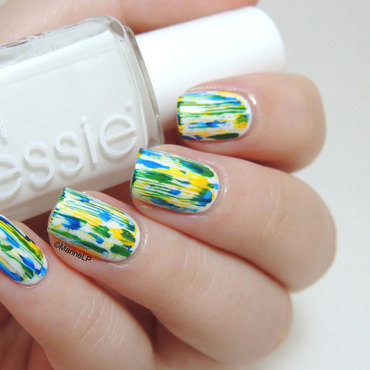 Colors of Brazil nail art by Marine Loves Polish