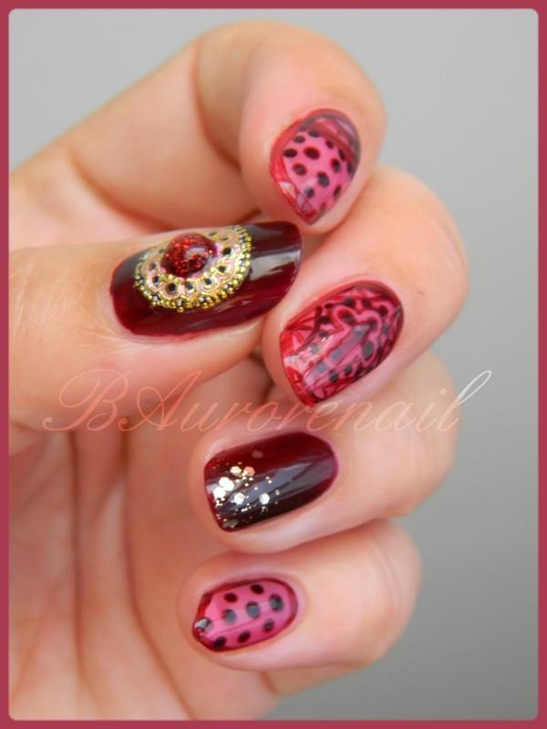 Dentelle Chanel nail art by BAurorenail