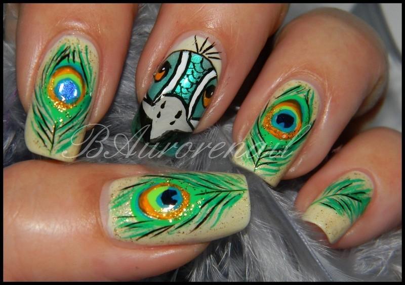 Paon nail art by BAurorenail