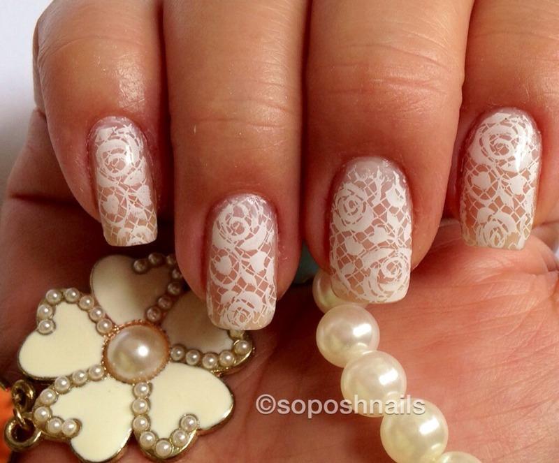 Bridal Lace nail art by Debbie - Nailpolis: Museum of Nail Art