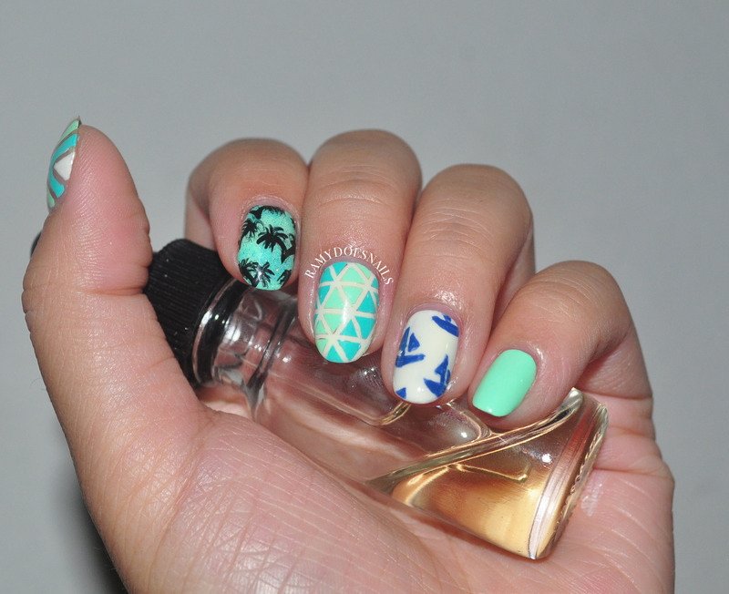 Summer Breeze nail art by Ramy Ang