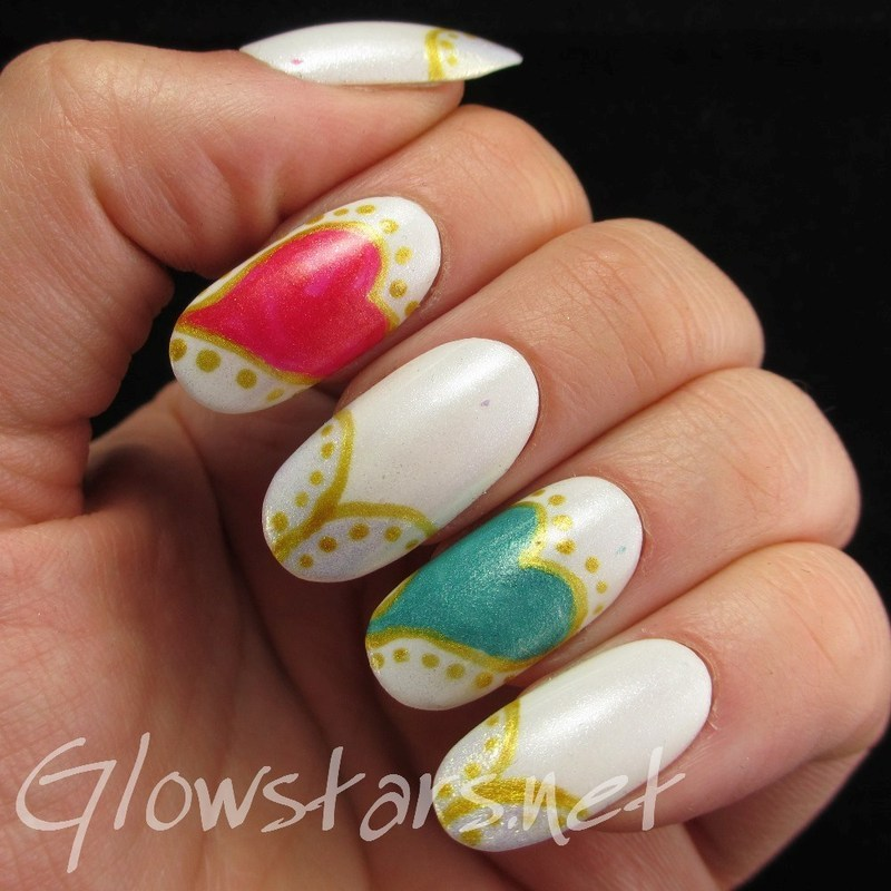We're not droplets in the ocean nail art by Vic 'Glowstars' Pires