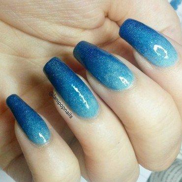 Freckles Polish blue hawaii and Freckles Polish blue lagoon Swatch by Alanna