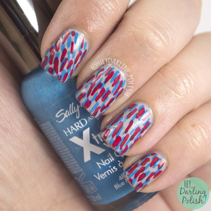 Dash Art nail art by Marisa  Cavanaugh