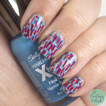 Golden oldie thursdays red blue nail art 3.ps4 thumb370f